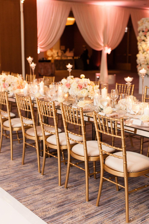 Glamorous Gold Chiffon Chairs Chicago Wedding Emilia Jane Photography