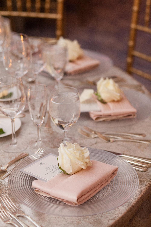White Rose Table Center Chicago Wedding Emilia Jane Photography