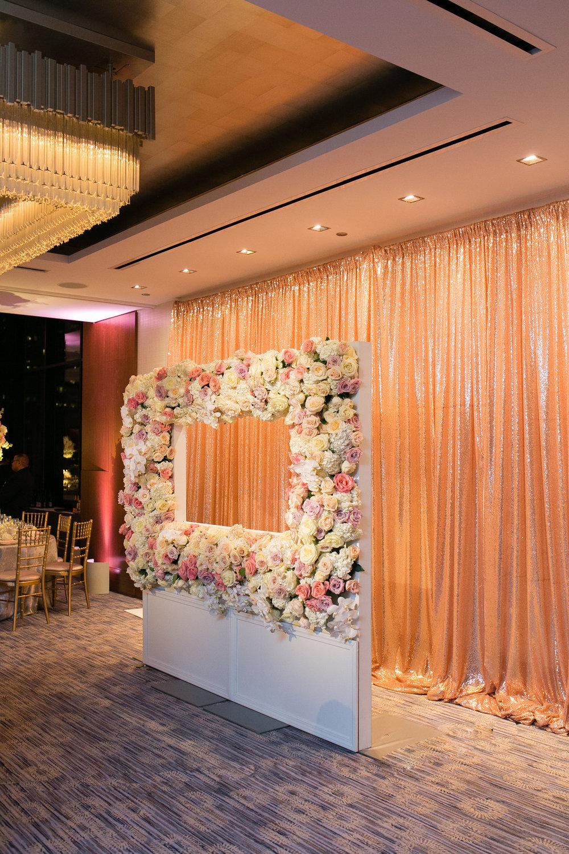 White Rose and Pink Photo Booth Chicago Wedding Emilia Jane Photography