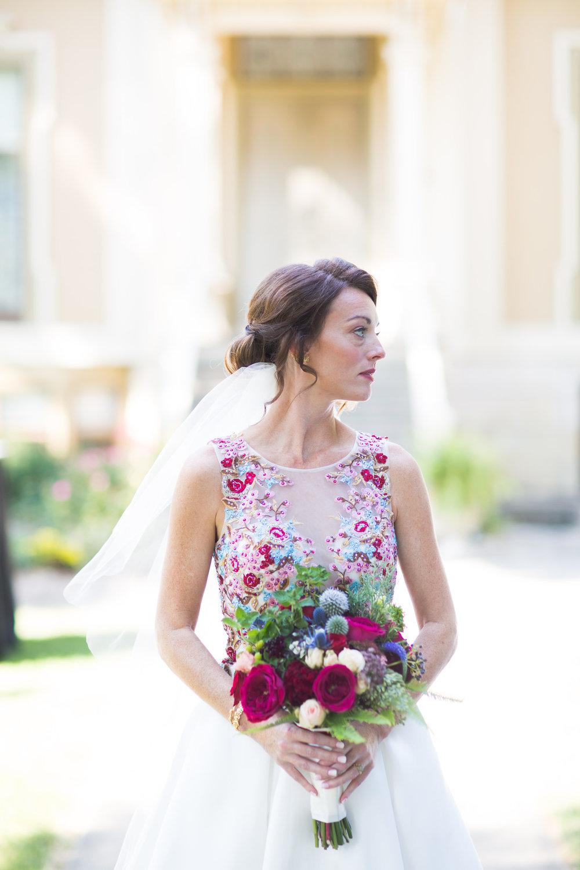Floral Embroidered Wedding Dress Chicago Wedding Elite Photography