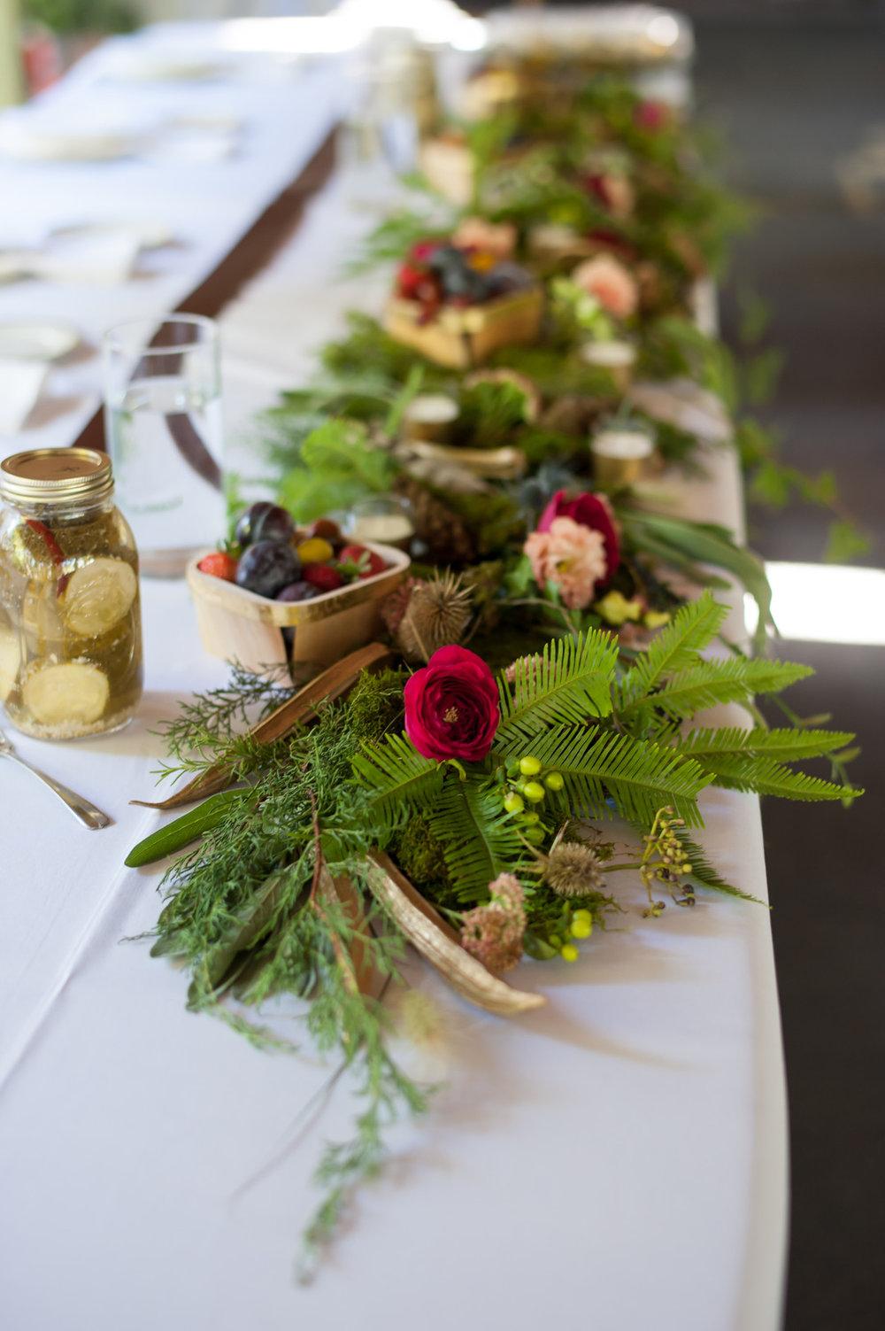 Greenery Table Runner Chicago Wedding Elite Photography