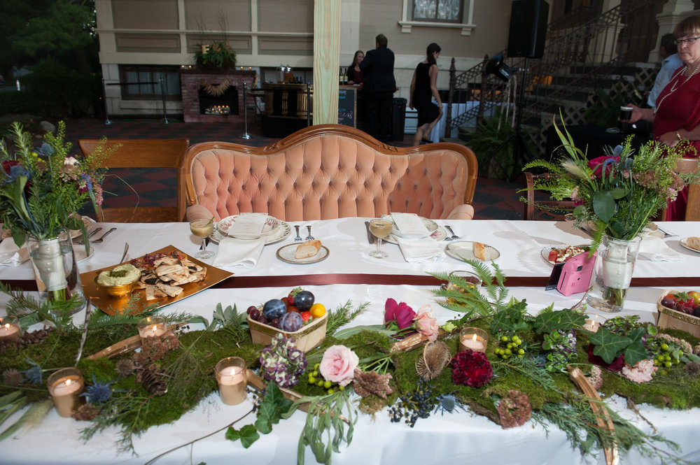 Vintage Greenery Table Setting Chicago Wedding Elite Photography