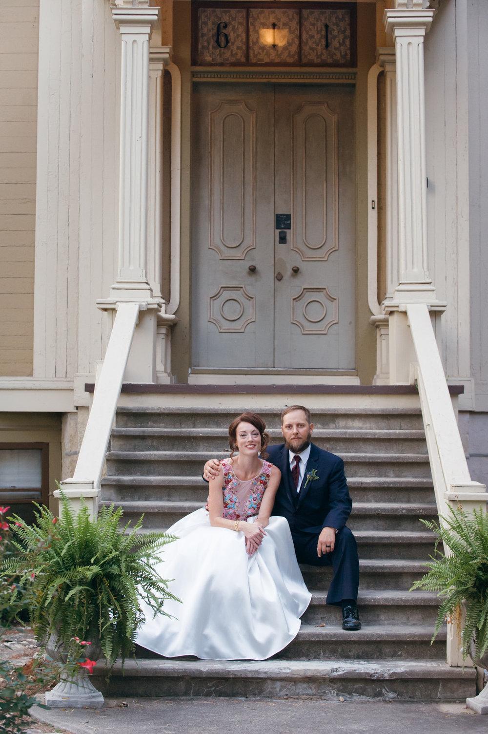 Vintage Bride and Groom Portrait Chicago Wedding Elite Photography