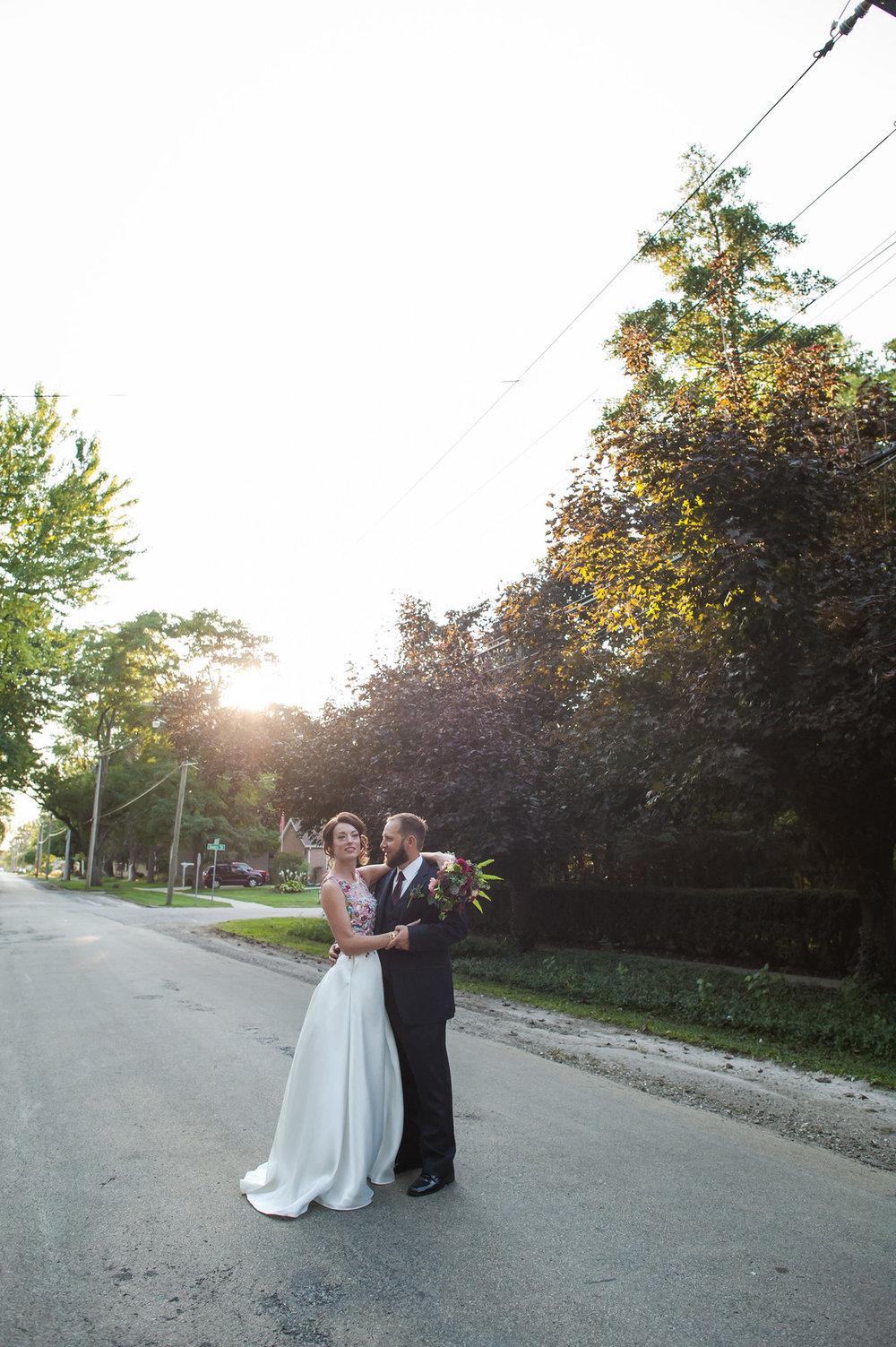 Bride and Groom Portrait Chicago Wedding Elite Photography