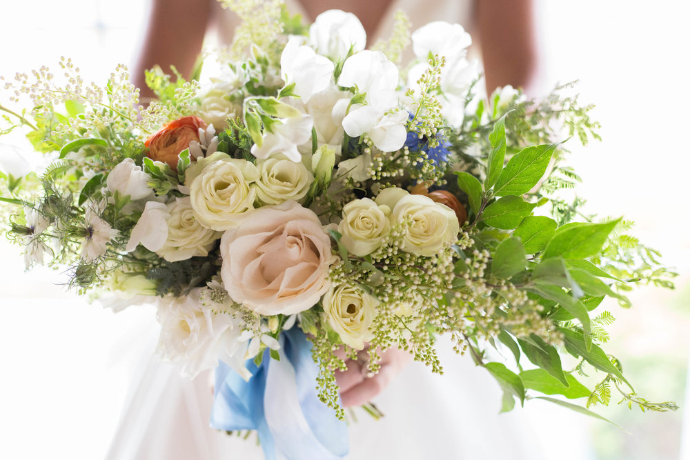 White Rose and Greenery Bridal Bouquet Chicago Wedding Meghan McCarthy Photography