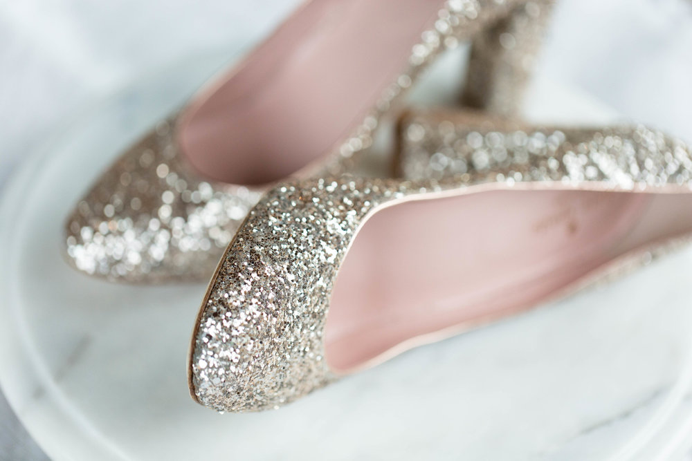 Gold Glitter Wedding Heels Chicago Wedding Meghan McCarthy Photography