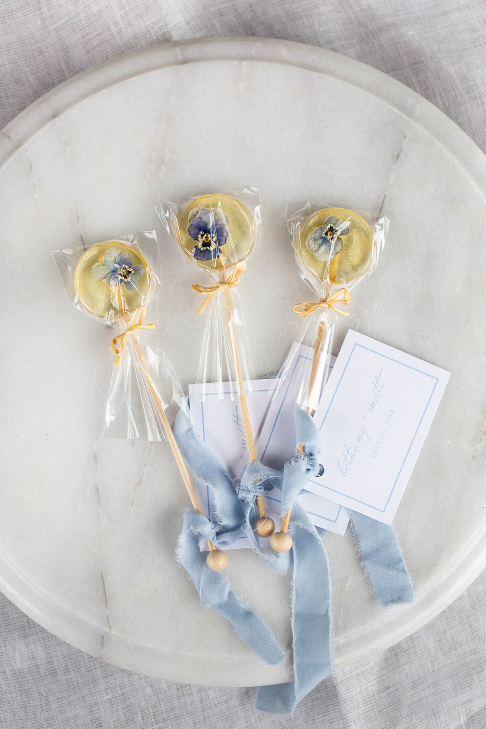 Lollipop Wedding Favor Chicago Wedding Meghan McCarthy Photography