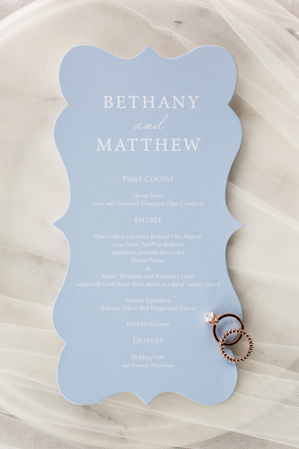 Baby Blue Wedding Invitation Chicago Wedding Meghan McCarthy Photography