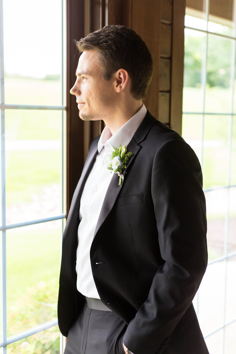 Black Groom Suit Chicago Wedding Meghan McCarthy Photography