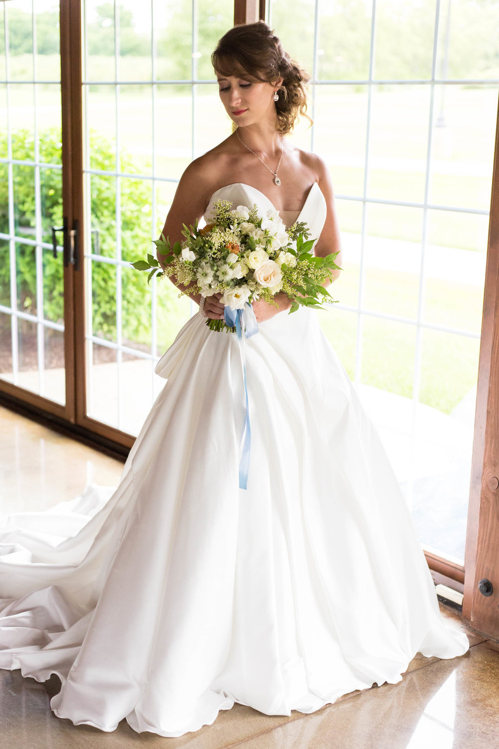 Romantic Sleeveless Ball Gown Chicago Wedding Meghan McCarthy Photography