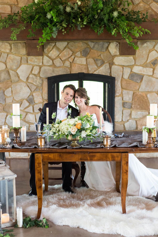 Bride and Groom Sweetheart Table Chicago Wedding Meghan McCarthy Photography