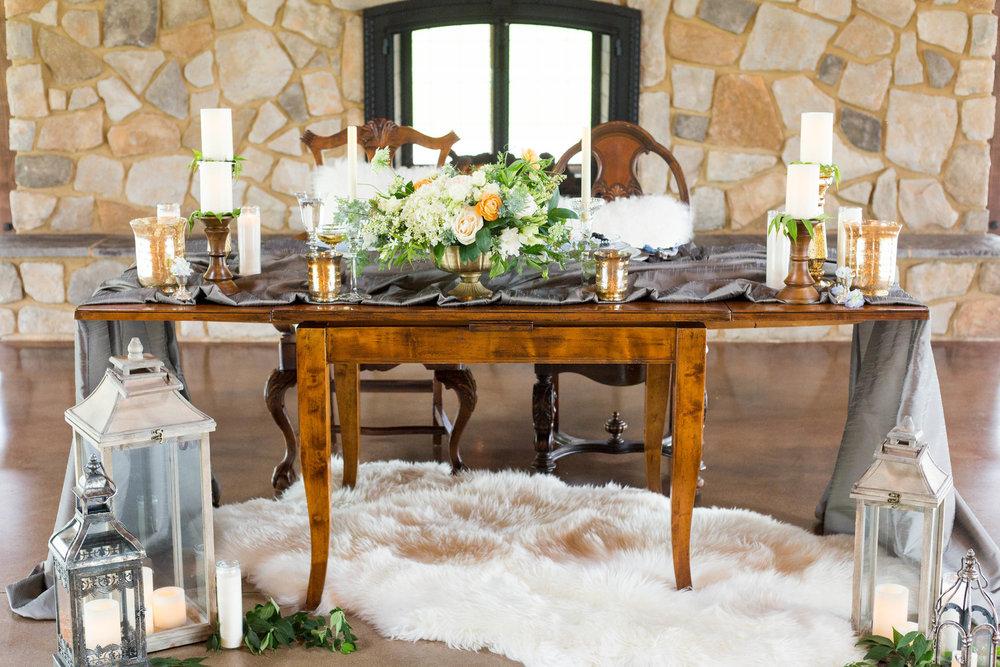 Rustic Sweetheart Table Chicago Wedding Meghan McCarthy Photography