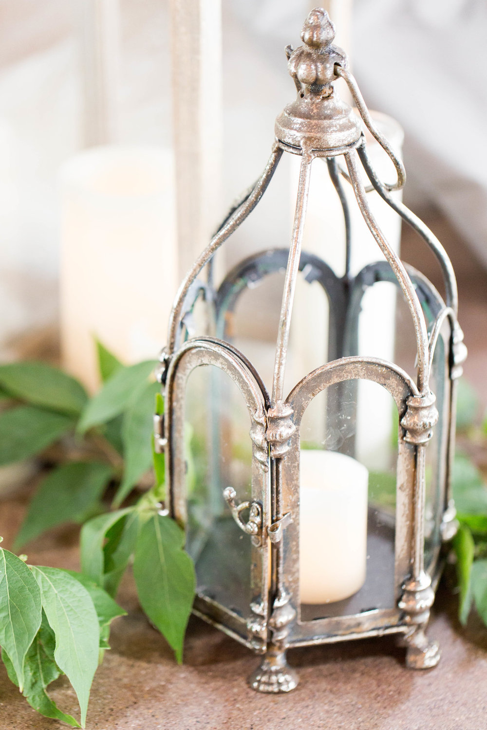 Rustic Lantern Table Setting Chicago Wedding Meghan McCarthy Photography