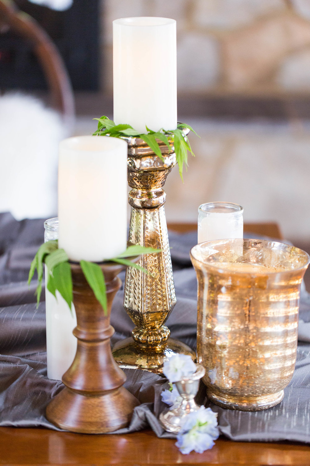 Rustic Candle Table Setting Chicago Wedding Meghan McCarthy Photography