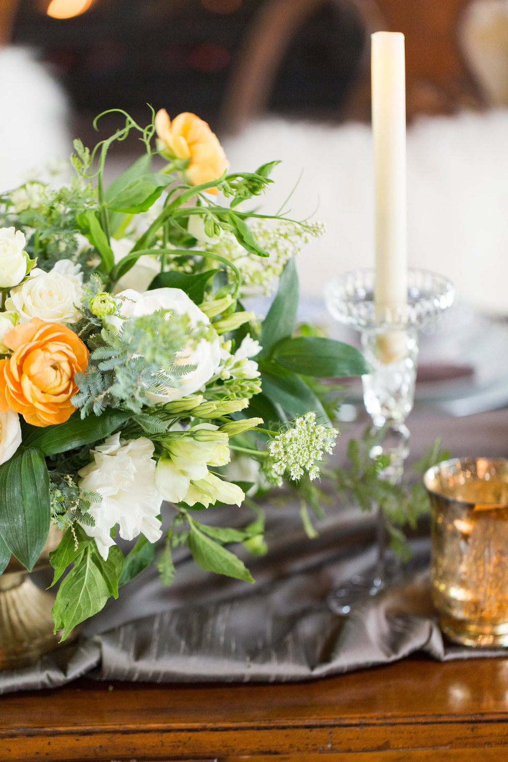 Greenery Table Center Piece Chicago Wedding Meghan McCarthy Photography