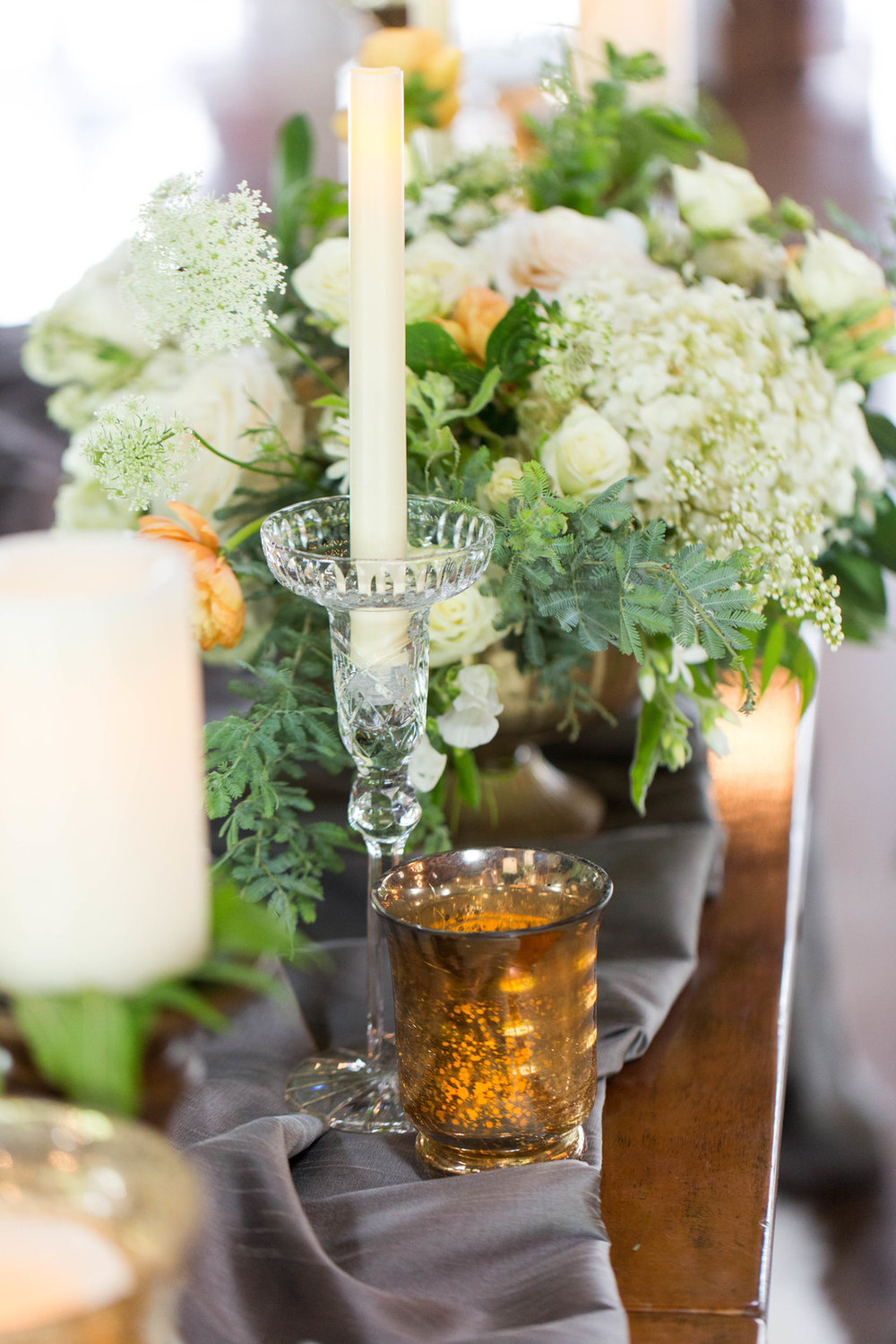 Greenery Table Setting Chicago Wedding Meghan McCarthy Photography