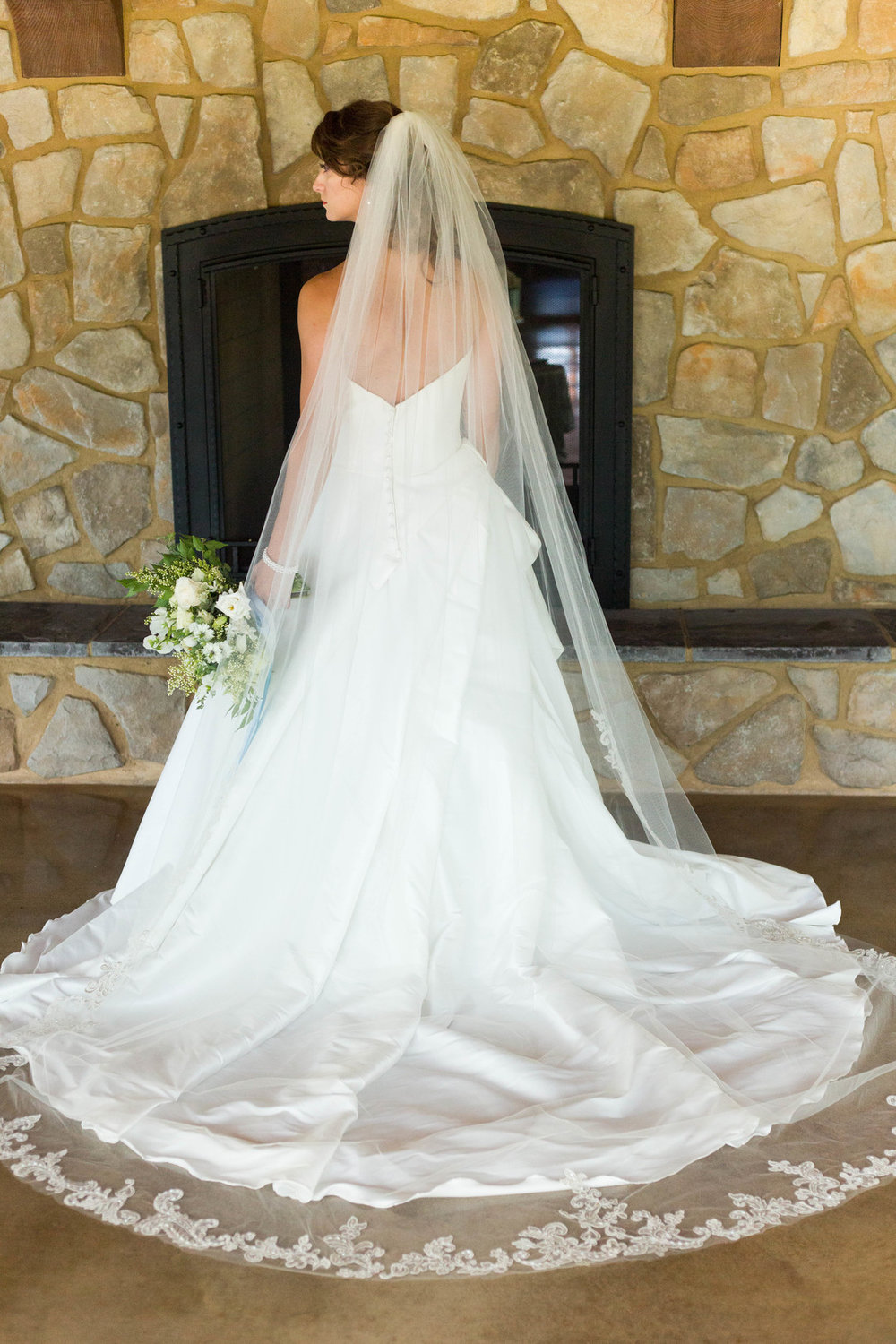 Romantic Cathedral Length Veil Chicago Wedding Meghan McCarthy Photography