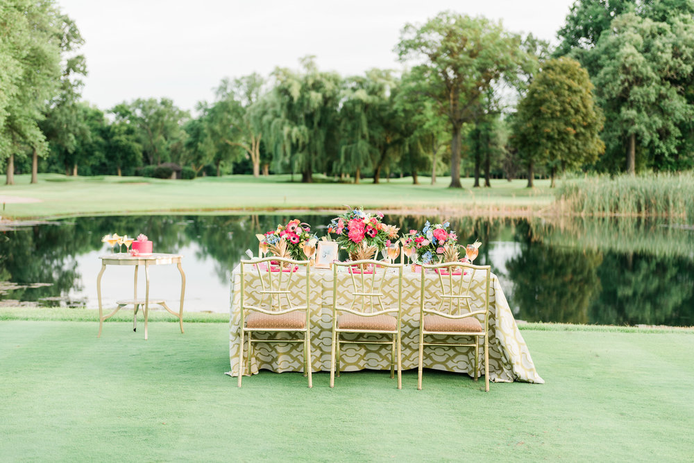 Green and Pink Table Setting Chicago Wedding Anamaria Vieriu Photography