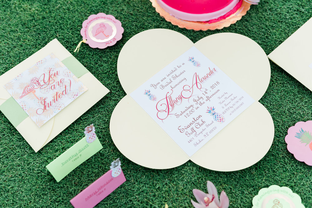 Pink and Flamingo Wedding Invitations Chicago Wedding Anamaria Vieriu Photography