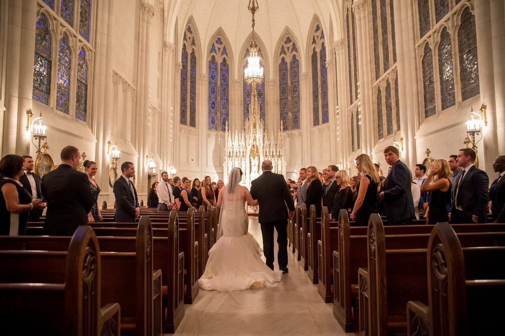 Bride Entrance St. James Chapel Chicago Wedding Julia Franzosa Photography