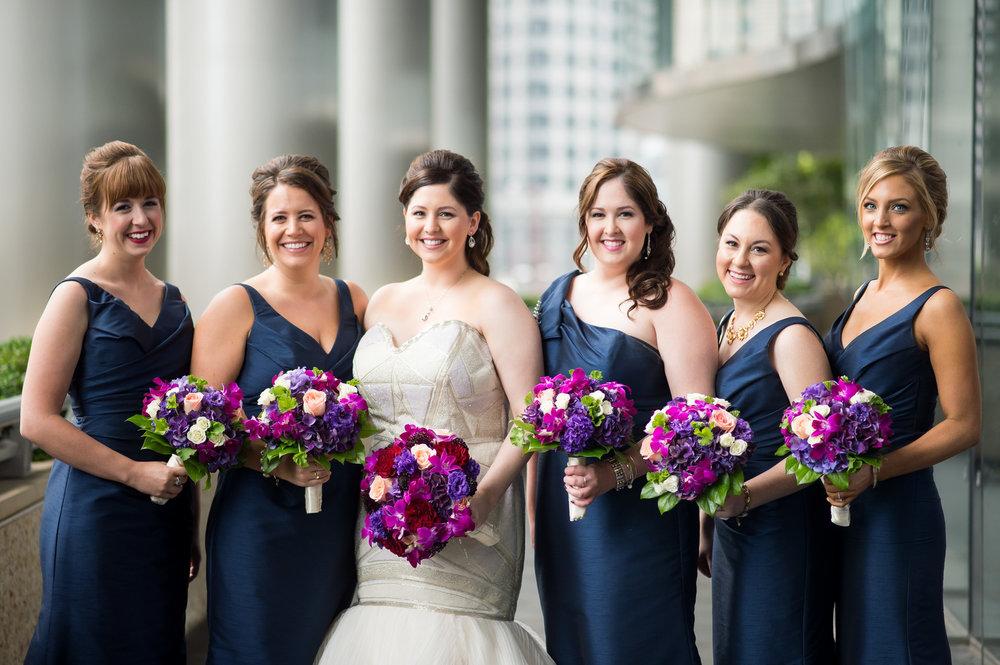 Blue Bridesmaid Dresses Chicago Wedding Julia Franzosa Photography