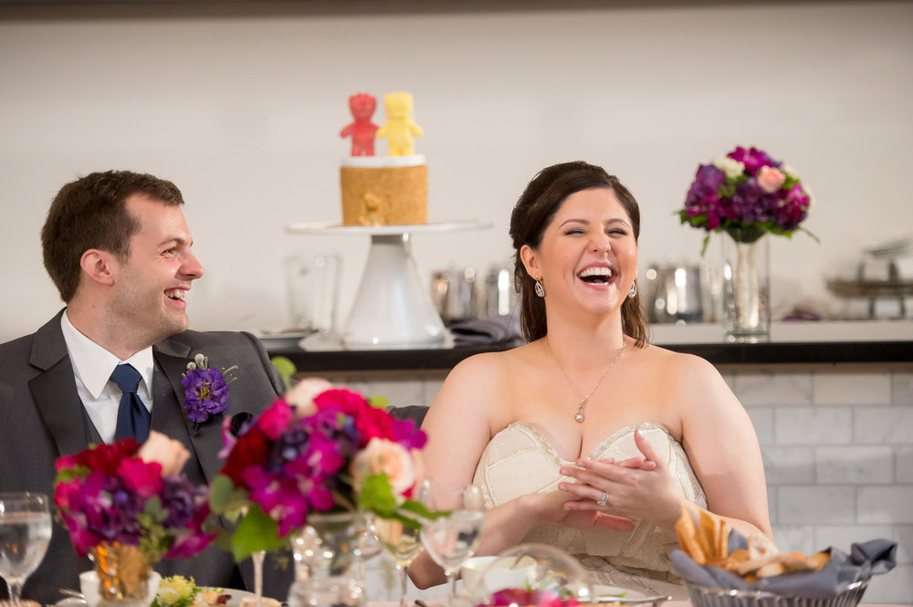 Candid Bride and Groom Photo Chicago Wedding Julia Franzosa Photography