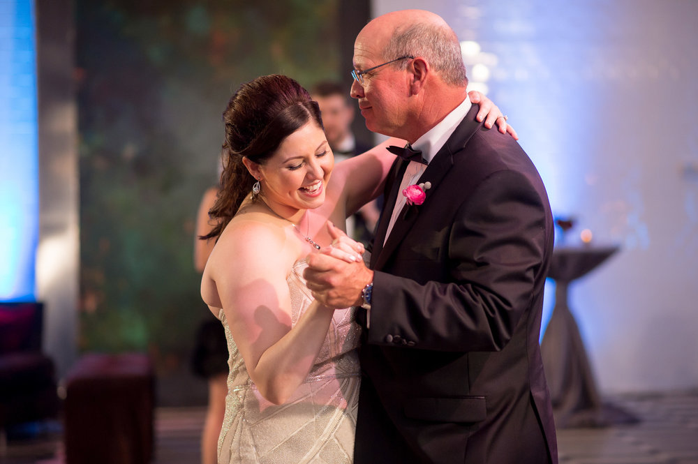 Bride and Father Dance Chicago Wedding Julia Franzosa Photography