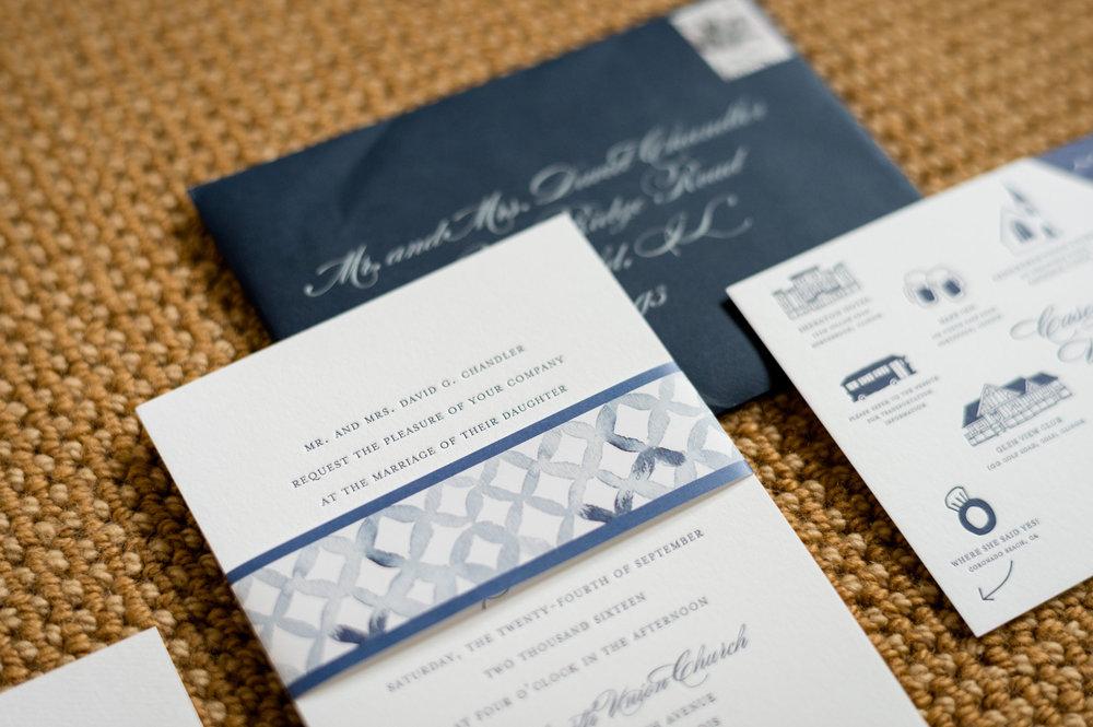 Navy and Black Wedding Invitation Chicago Wedding Julia Franzosa Photography