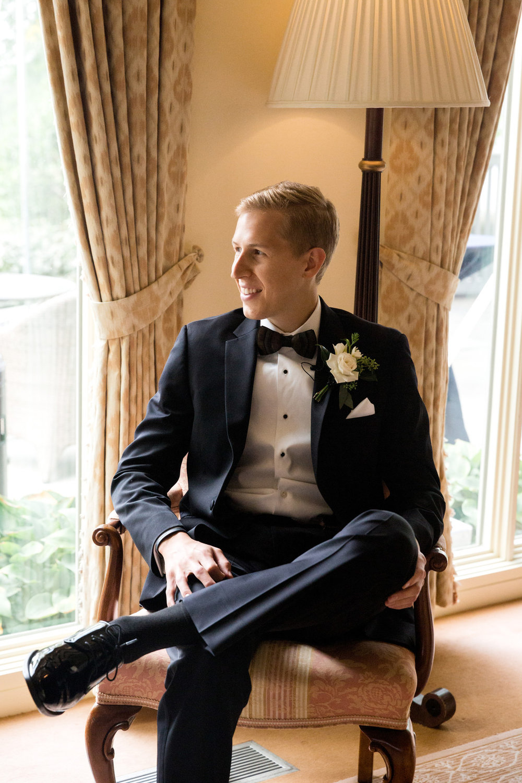 Black Groom Tux Chicago Wedding Julia Franzosa Photography