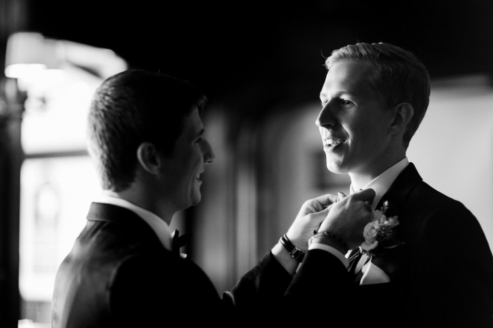 Groom Getting Ready Chicago Wedding Julia Franzosa Photography
