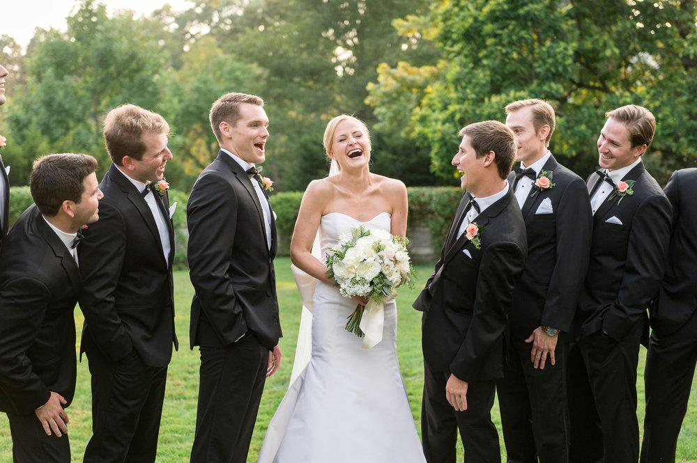 Elegant Black Bridal Party Chicago Wedding Julia Franzosa Photography