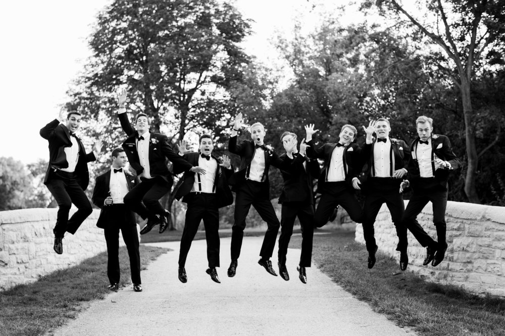 Black Tie Groomsmen Chicago Wedding Julia Franzosa Photography