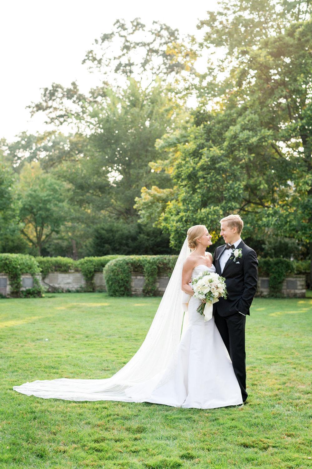 Elegant Bride and Groom Portrait Chicago Wedding Julia Franzosa Photography