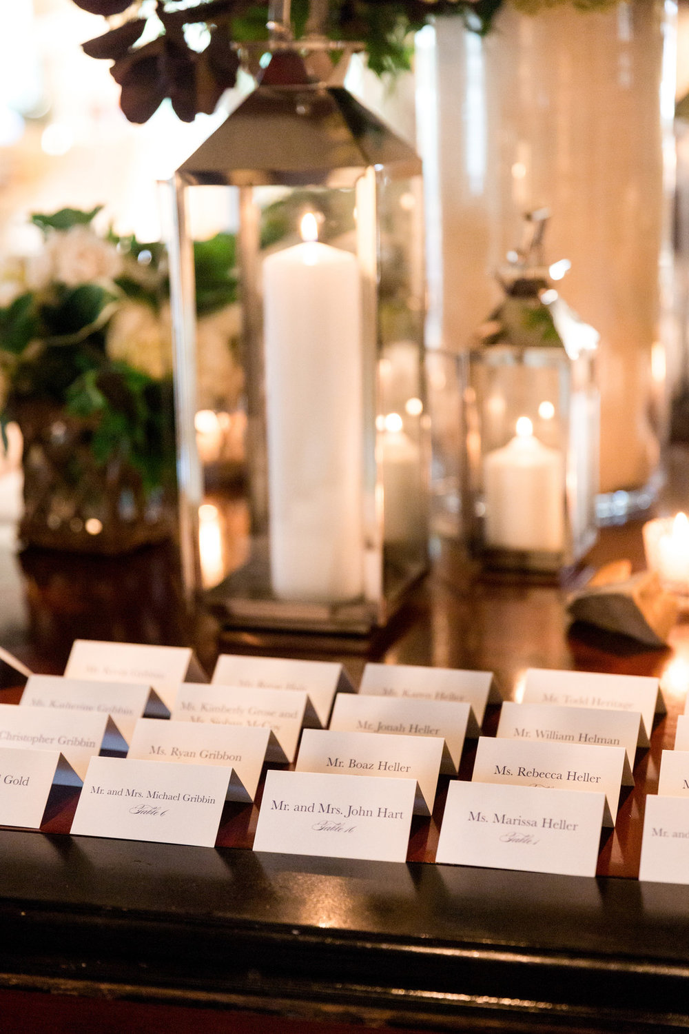 Name Place Cards Chicago Wedding Julia Franzosa Photography