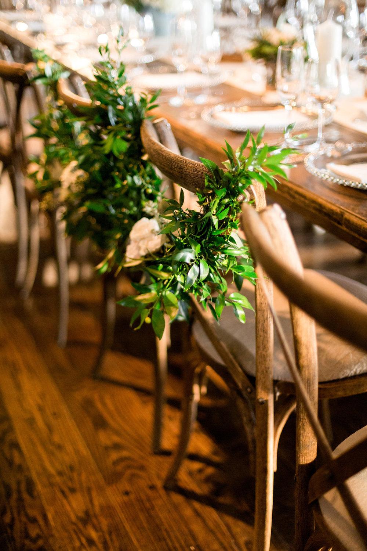 Greenery Table Setting Chicago Wedding Julia Franzosa Photography