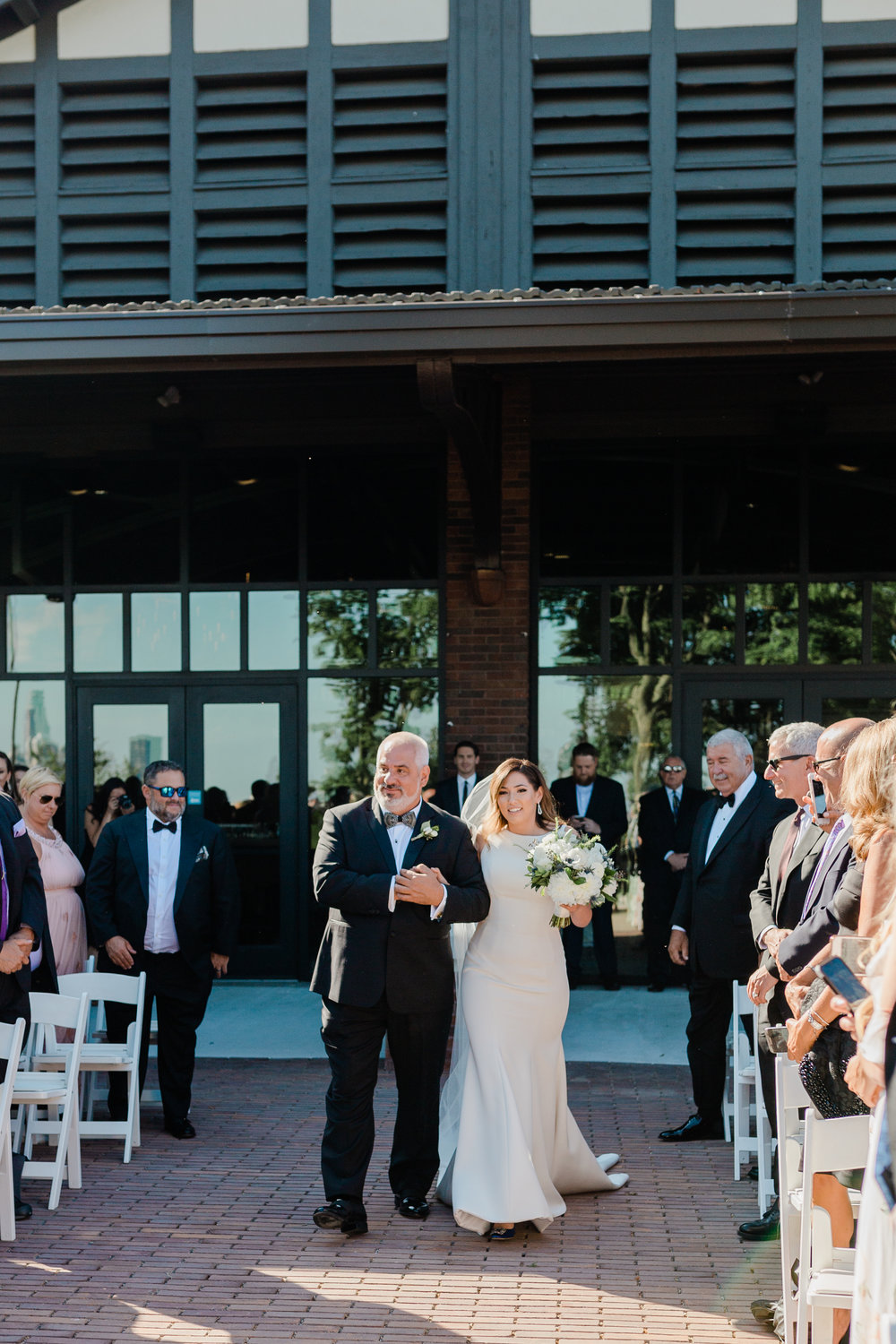 Bridal Entrance Theater on the Lake Chicago Wedding Lindsey Taylor Photography