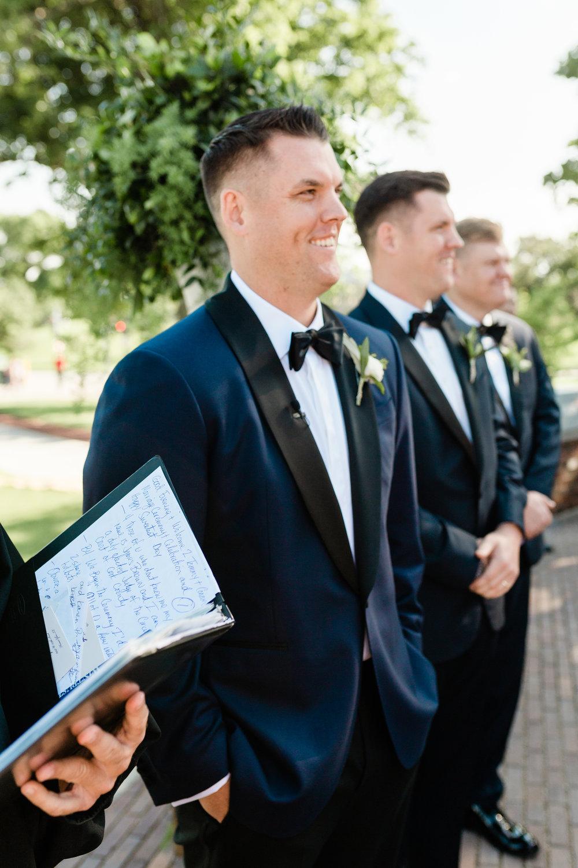 Navy and Black Groom Tuxedo Chicago Wedding Lindsey Taylor Photography