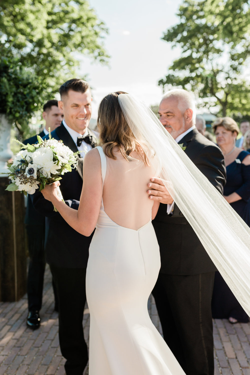 Cathedral Length Veil Chicago Wedding Lindsey Taylor Photography