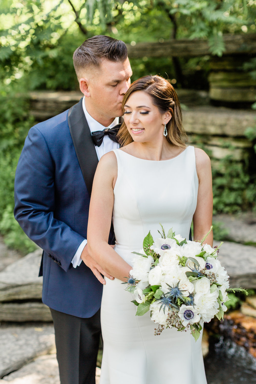 Elegant Bride and Groom Portrait Chicago Wedding Lindsey Taylor Photography