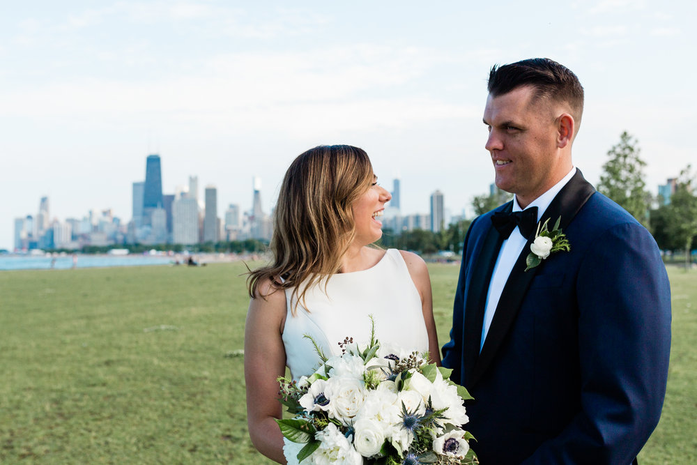 Bride and Groom Portrait Chicago Wedding Lindsey Taylor Photography