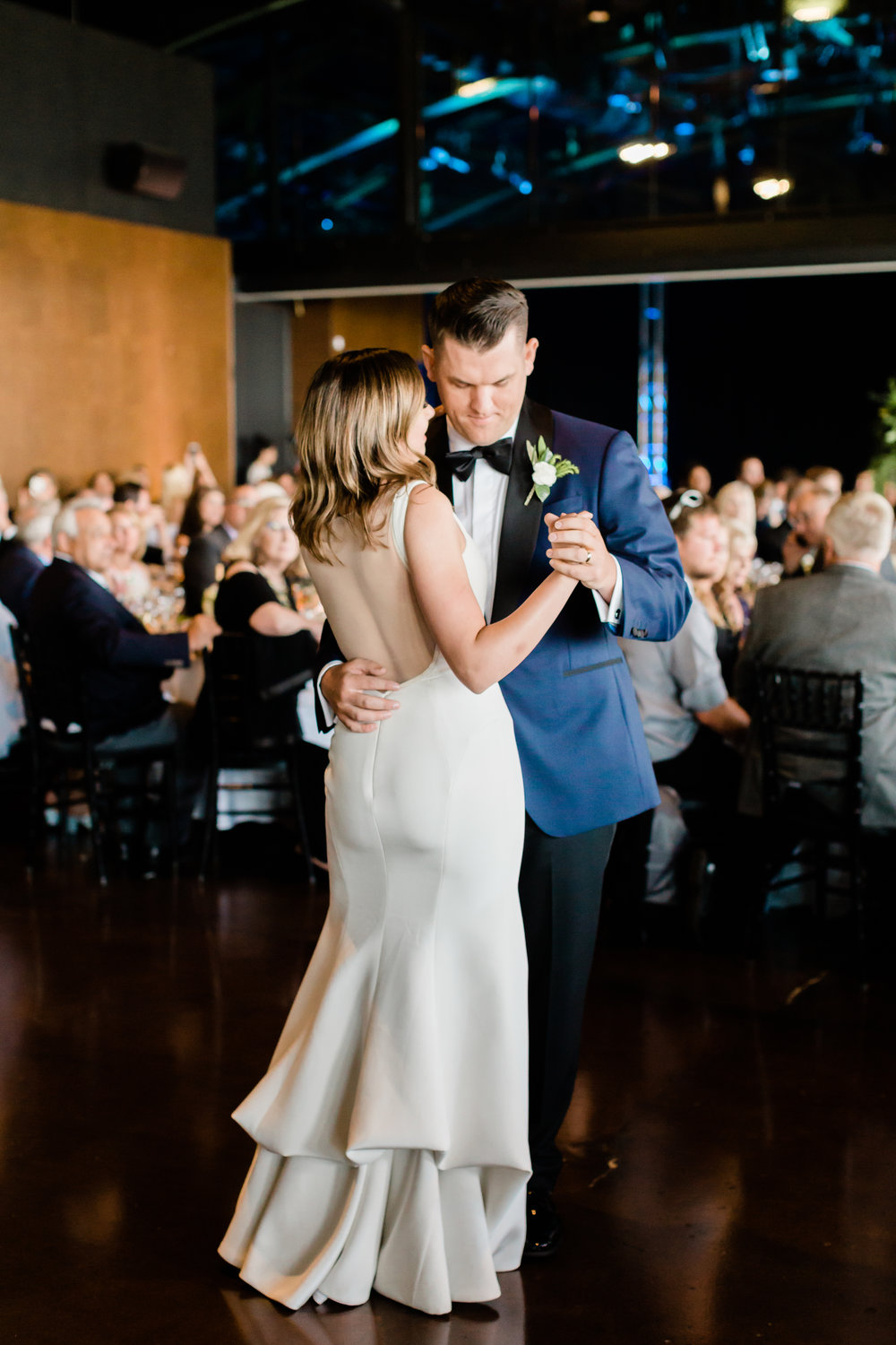 Bride and Groom First Dance Chicago Wedding Lindsey Taylor Photography