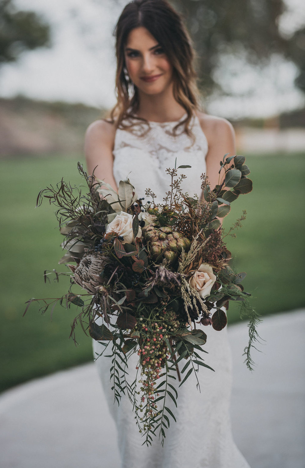 Greenery Bridal Bouquet Chicago Wedding Monroe Street Photography