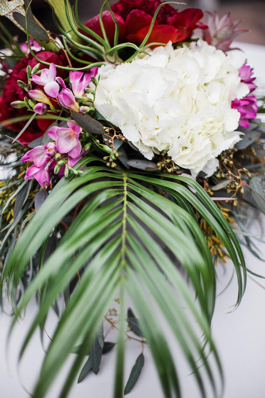 Palm Leaf Chicago Wedding Ella Farrell Weddings