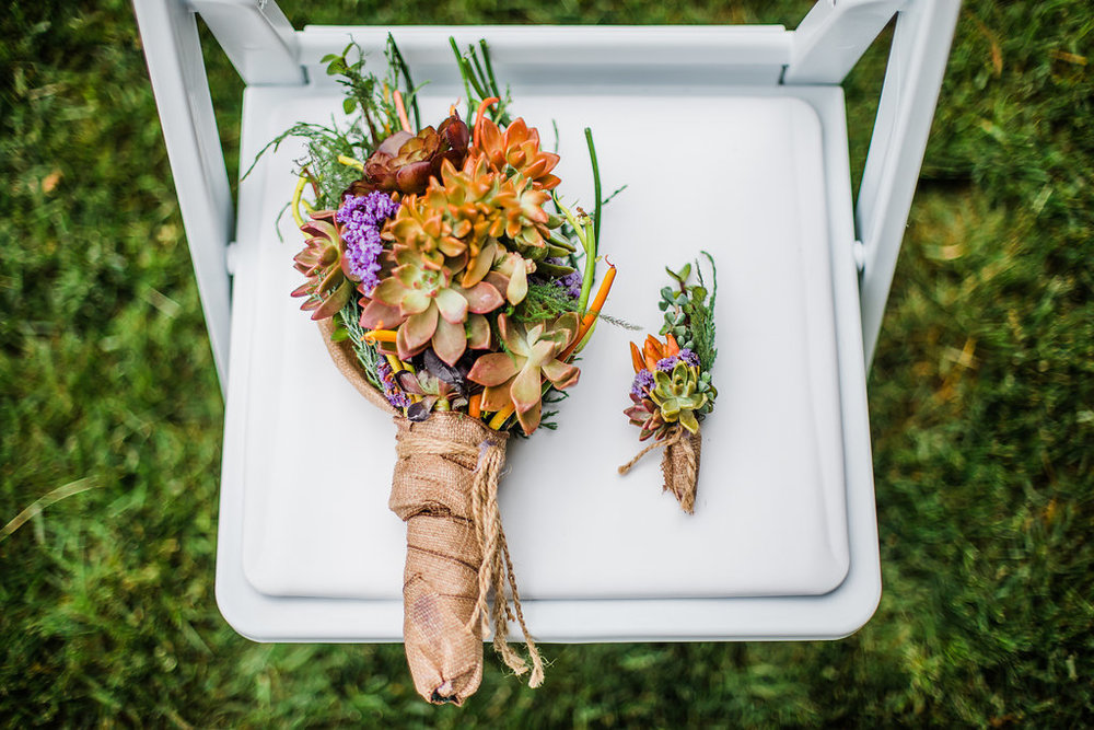 Succulent Bridal Bouquet Chicago Wedding Ella Farrell Weddings