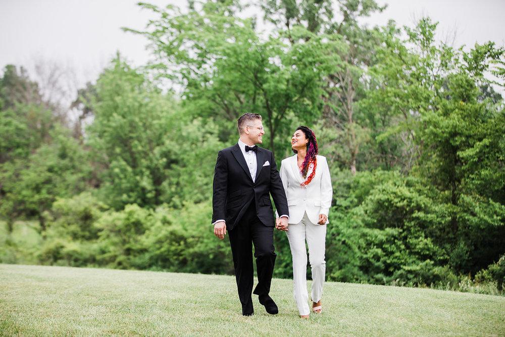 Bridal Wedding Suit Chicago Wedding Ella Farrell Weddings