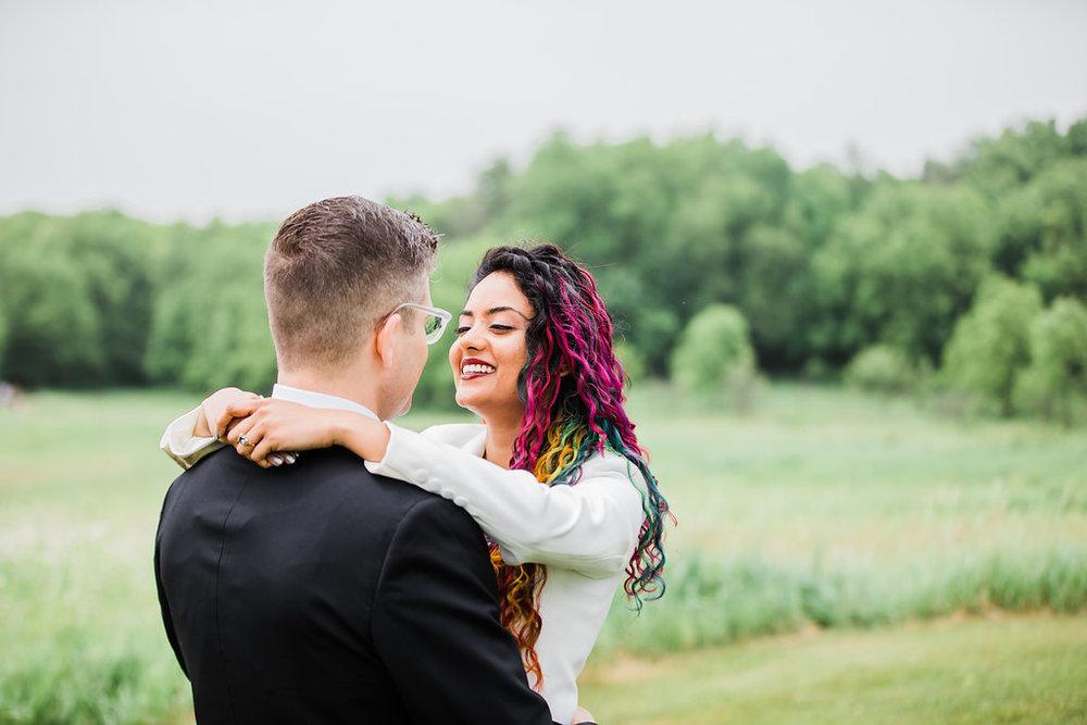 Vibrant Bridal Hair Color Chicago Wedding Ella Farrell Weddings