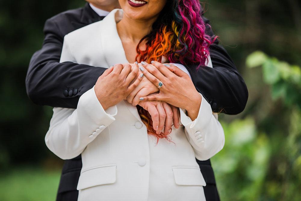 Vibrant Color Bridal Hair Chicago Wedding Ella Farrell Weddings