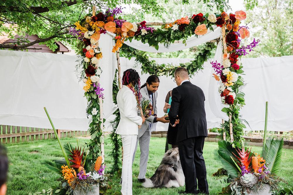Floral Wedding Arch Chicago Wedding Ella Farrell Weddings