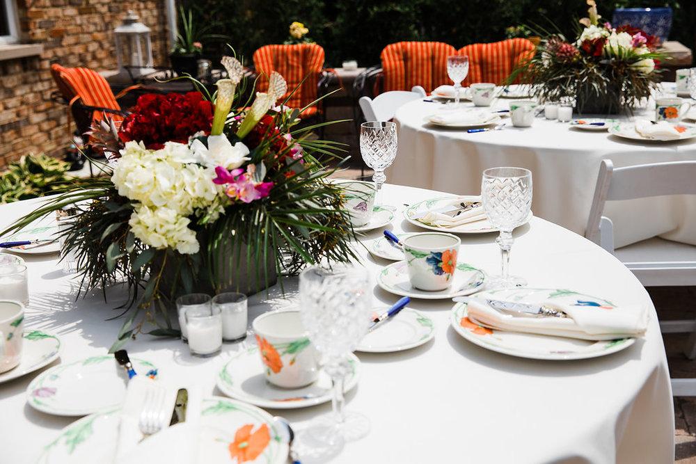 Floral Table Center Pieces Chicago Wedding Ella Farrell Weddings