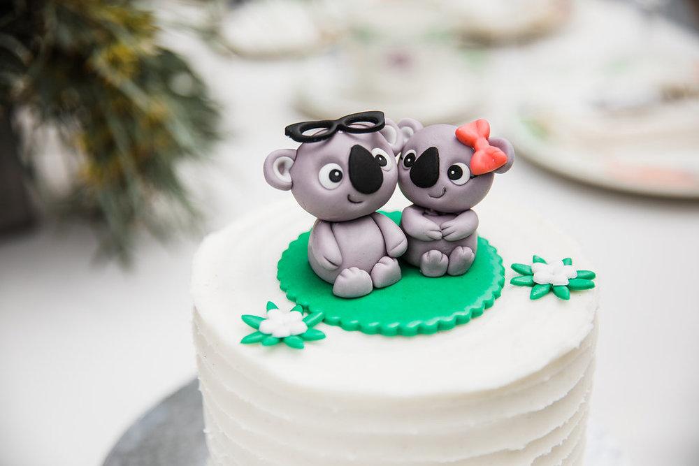 Koala Bear Cake Topper Chicago Wedding Ella Farrell Weddings